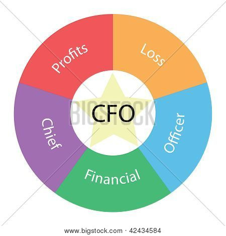 Cfo Circular Concept With Colors And Star