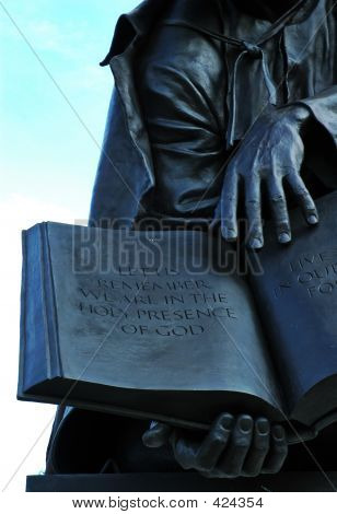 Statue And Scripture