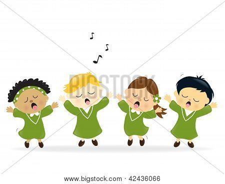 Choir singing praise