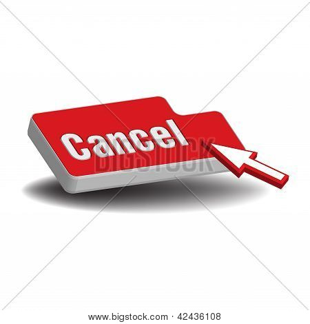 Red cancel button