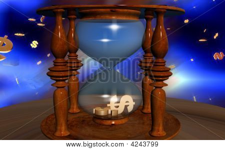 Dollar Sign In Hourglass