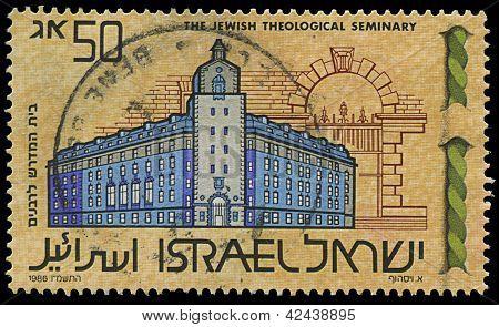 Israel- Circa 1986: Stamp Image Jewish Theological Seminary, Circa 1986