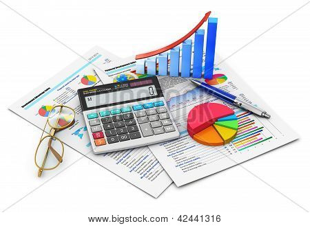 Finanças e contabilidade conceito