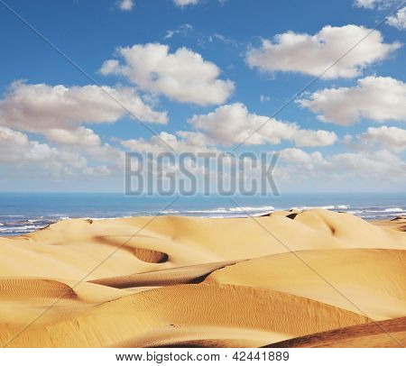 Atlantic coast in Western Sahara,Morocco