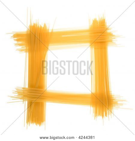 Frame Of Spaghetti  On A White Background.