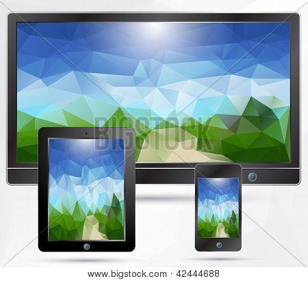 TV,tablet,phone