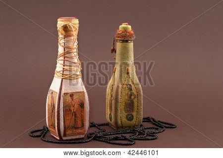 Bottles Handmade Decoupage