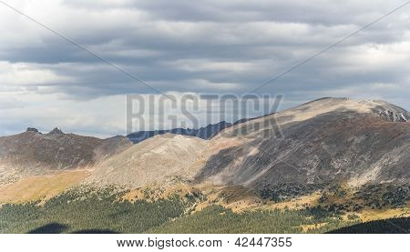 View From The Summit In Rocky Mountains National Park