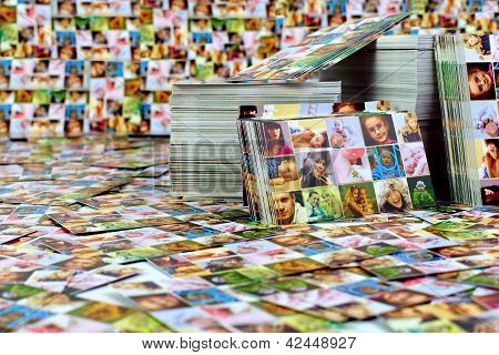 Huge Number Of Printed Products. Photo Business Card