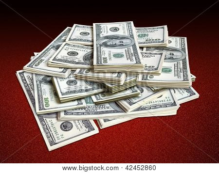 pile of dollar bills