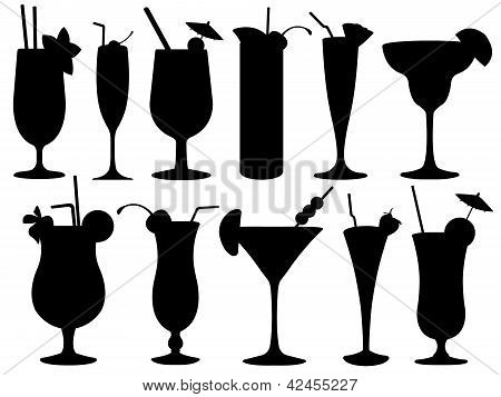 Set of cocktail glasses