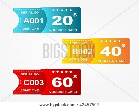 cartão de voucher