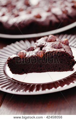 delicious homemade hazelnuts brownie - sweet food