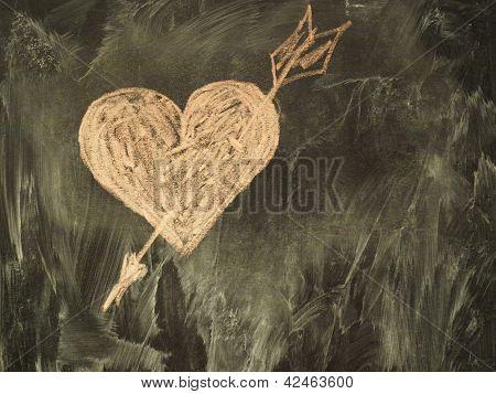 Heart on the classboard