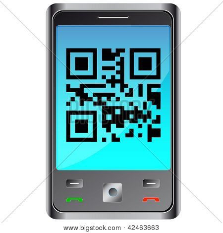 mobile phone with qr code