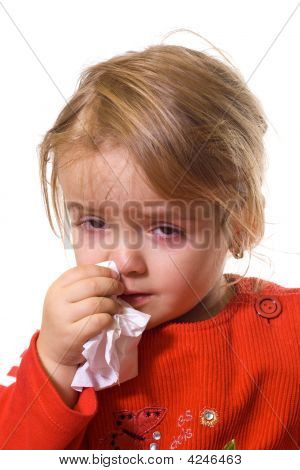 Little Girl With A Severe Flu