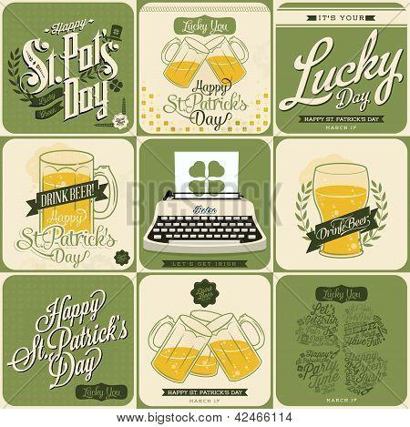 St Patrick's day card set