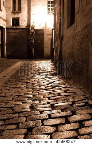 Street Of Bordeaux, Gironde, Aquitaine, France