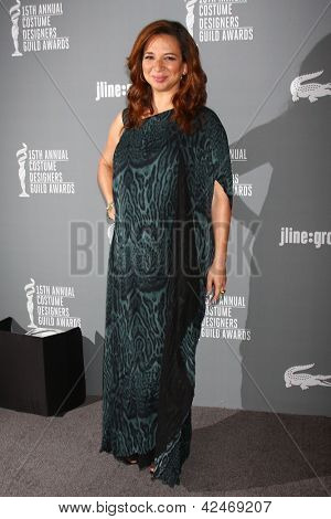 LOS ANGELES - FEB 19:  Maya Rudolph arrives at the 15th Annual Costume Designers Guild Awards at the Beverly HIlton Hotel on February 19, 2013 in Beverly Hills, CA