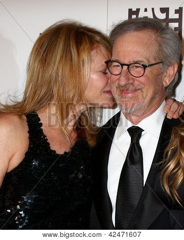 LOS ANGELES - FEB 17:  Kate Capshaw, Steven Spielberg arrive at the 63rd Annual ACE Eddie Awards at the Beverly Hilton Hotel on February 17, 2013 in Beverly Hills, CA
