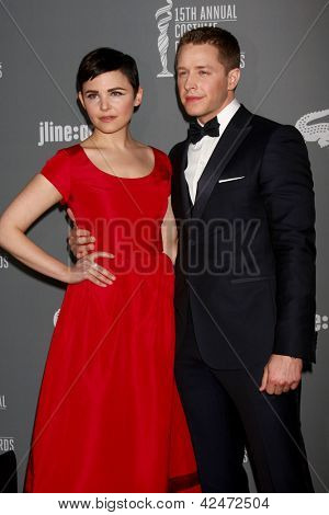 LOS ANGELES - FEB 19:  Ginnifer Goodwin, Josh Dallas arrive at the 15th Annual Costume Designers Guild Awards at the Beverly HIlton Hotel on February 19, 2013 in Beverly Hills, CA