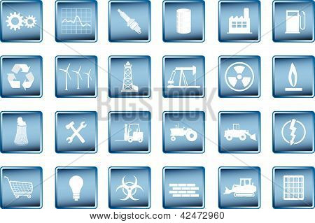 various industrial icons in vector format