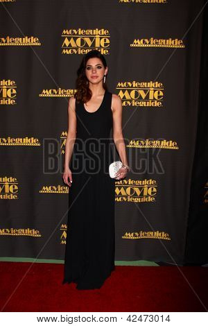 LOS ANGELES - FEB 15:  Gia Mantegna arrives at the 2013 MovieGuide Awards at the Universal Hilton Hotel on February 15, 2013 in Los Angeles, CA