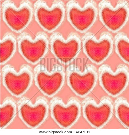 Textured Bubbly Valentine Hearts