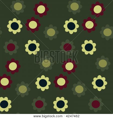 Vector seamless flower pattern
