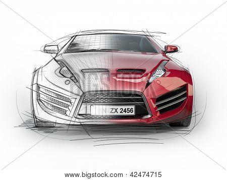 Desenho de Carro esportivo para Colorir - Colorir.com