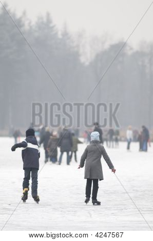 Children At The Ice