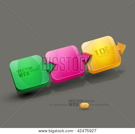 vector abstract background with colored arrows (design element for business)