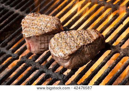 Beef Filet Mignon With Flames