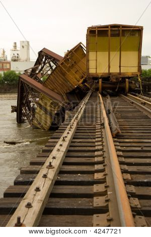 Train Wreck On Bridge