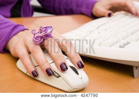 Arbeit mit dem Computer