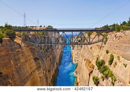 Corinth Channel In Greece