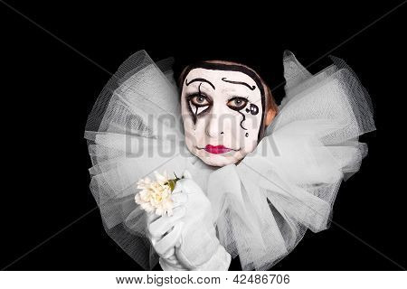 Female Clown Is Having Lovesickness