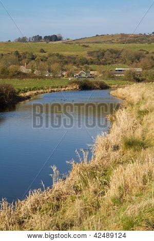 River Axe Somerset England