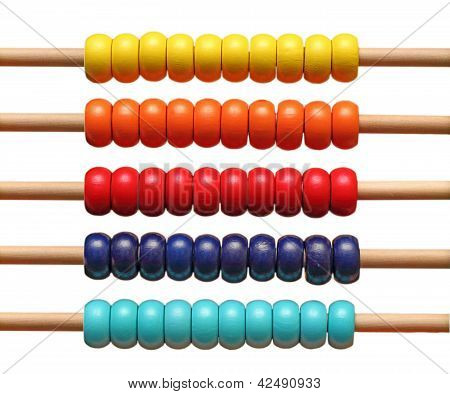 Colorful Abacus Detail