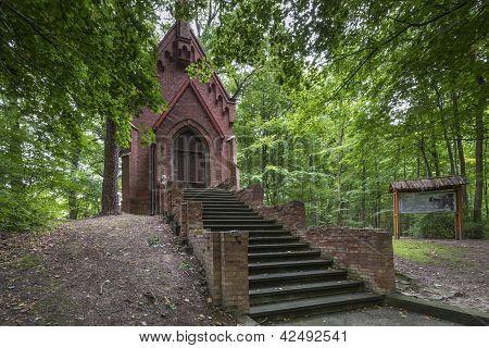 A Historic Chapel In The Forest, Tolkmicko, Poland