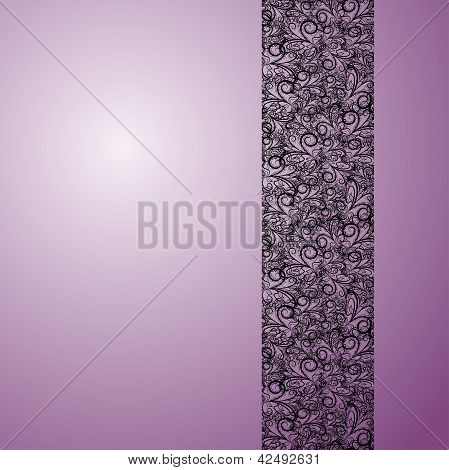 Lace Stripe On Violet Background