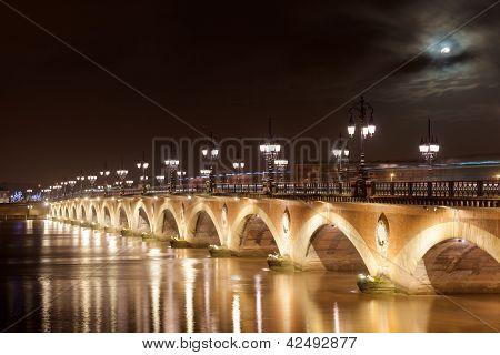 Pont De Pierre, Bordeaux, Gironde, Aquitaine, France