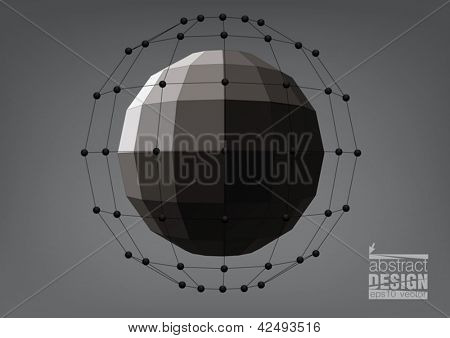 Black sphere with rectangular faces