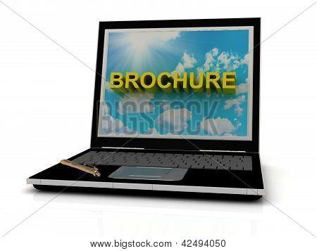 Brochure Sign On Laptop Screen