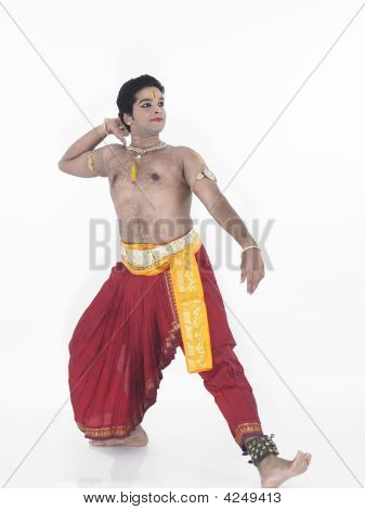 Indian Traditional Male Dancer Bharathanatyam