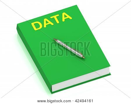 Data Name On Cover Book