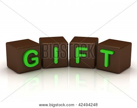 Gift Inscription Bright Green Letters