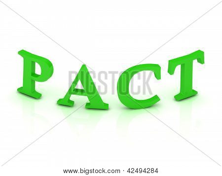Pact Sign With Green Letters