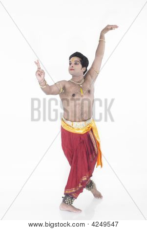 Indian Classical Male Dancer Bharathanatyam