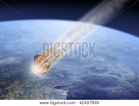 asteroid hit Earth